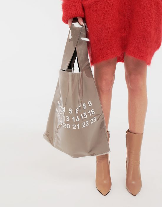 MAISON MARGIELA PVC coated leather shopper Tote [*** pickupInStoreShippingNotGuaranteed_info ***] b