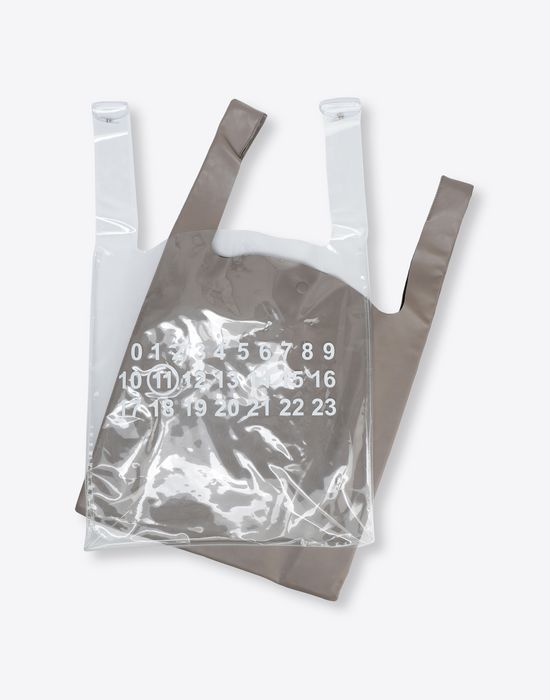MAISON MARGIELA PVC coated leather shopper Tote [*** pickupInStoreShippingNotGuaranteed_info ***] d
