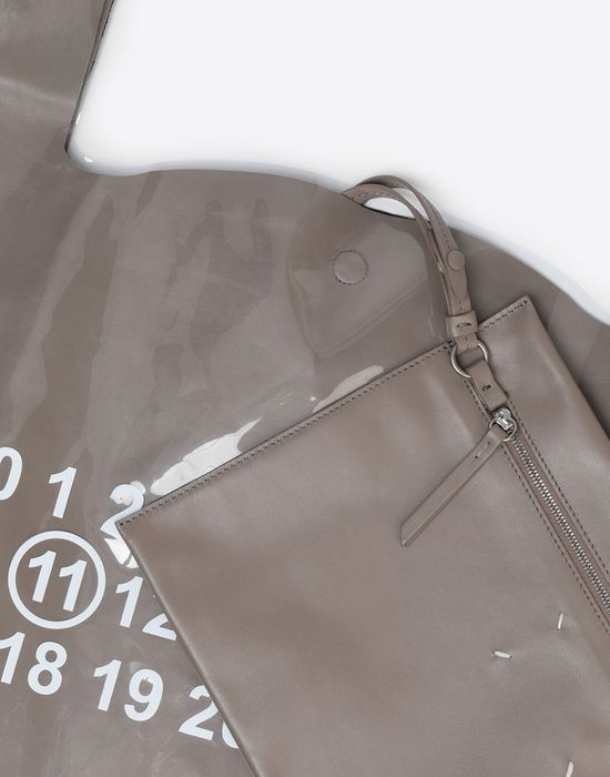 MAISON MARGIELA PVC coated leather shopper Tote [*** pickupInStoreShippingNotGuaranteed_info ***] e