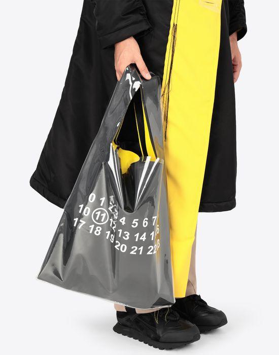MAISON MARGIELA PVC coated leather shopper Tote [*** pickupInStoreShippingNotGuaranteed_info ***] b