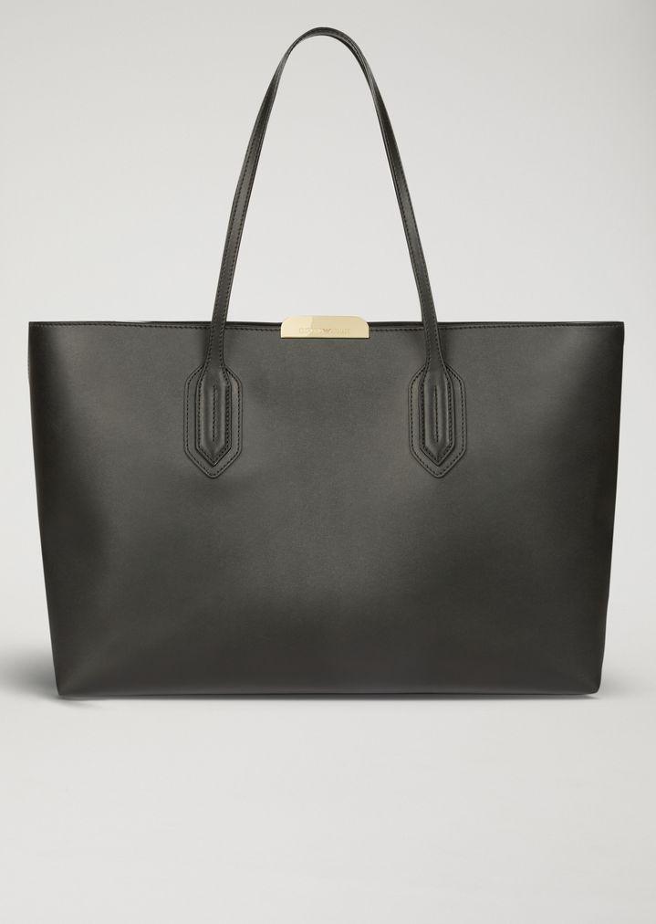 eb103a33a0db Tote bag with metallic logo detail