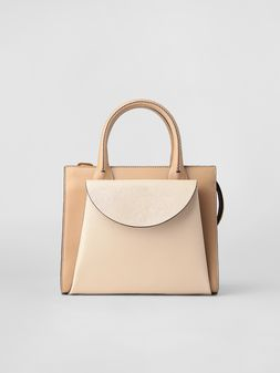Marni LAW bag in tone-on-tone tan calfskin  Woman