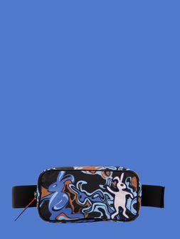 Marni Belt bag in light nylon with Dance Bunny print Man