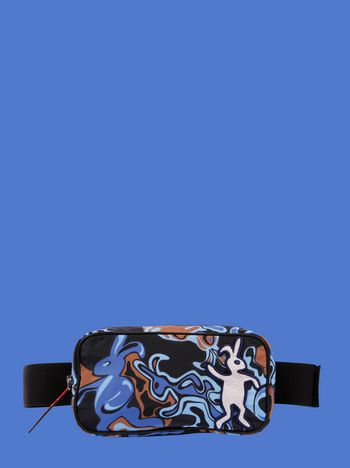 Marni Belt bag in light nylon with Dance Bunny print Man