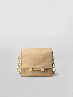 Marni CADDY SOFT bag in tan leather  Woman