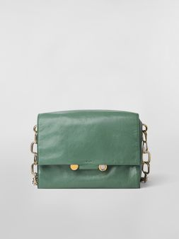 Marni CADDY SOFT bag in green leather Woman