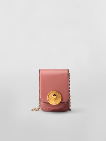 Marni MONILE bag in pink leather  Woman