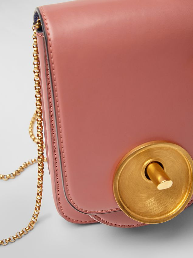 Marni MONILE bag in pink leather  Woman - 5