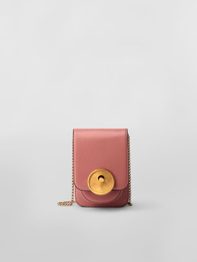 Marni MONILE bag in pink leather  Woman - 1