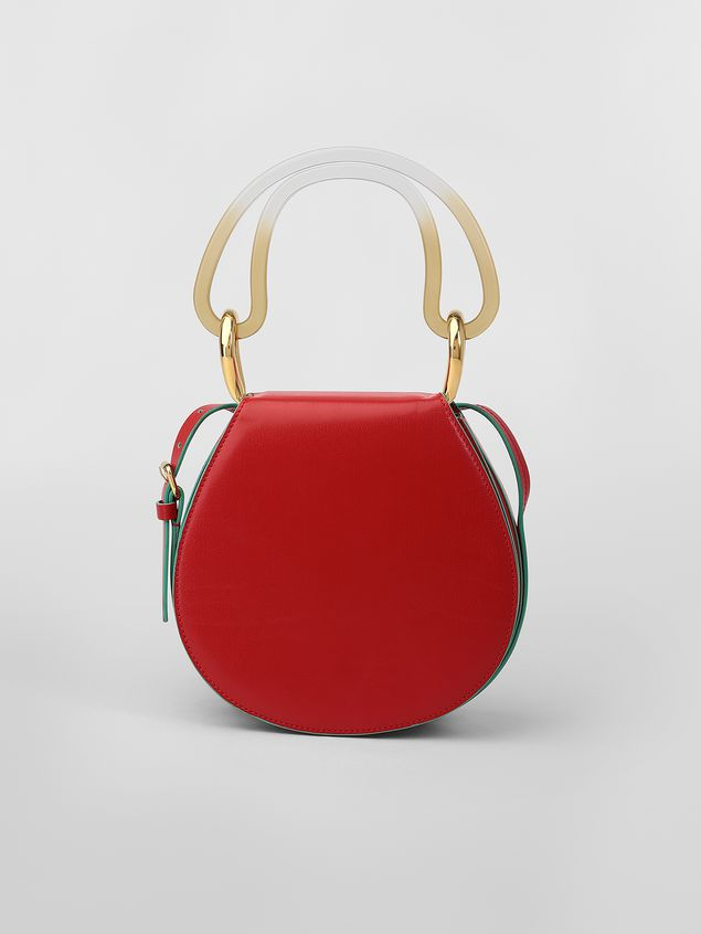 Marni SADDLE bag in red leather Woman - 1