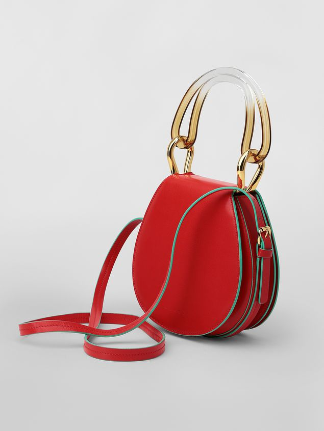 Marni SADDLE bag in red leather Woman - 3