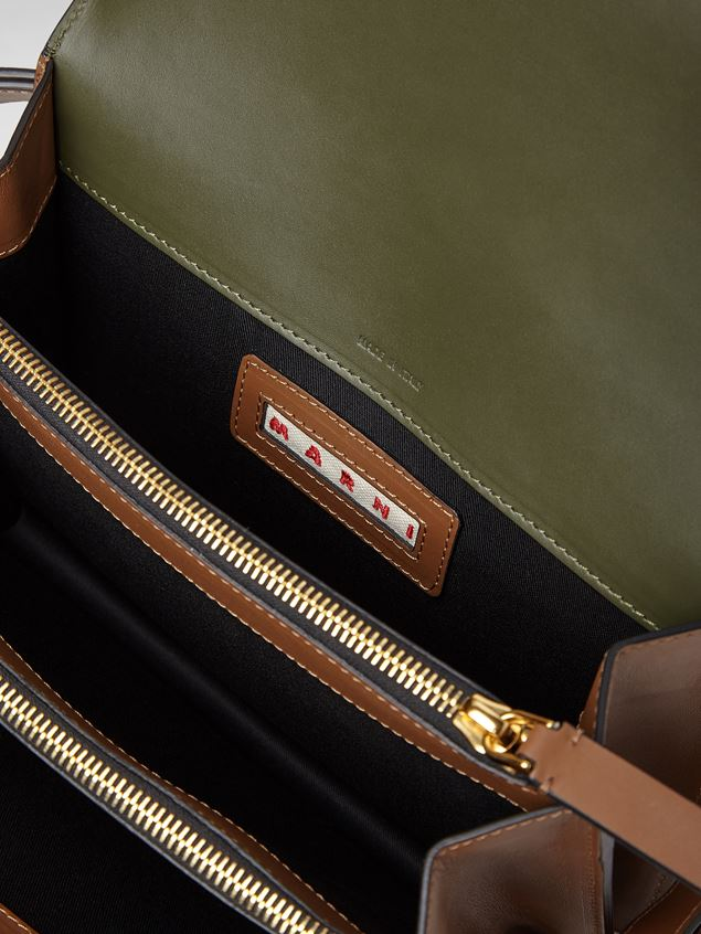 Marni TRUNK bag in green, gray and brown calfskin  Woman - 4