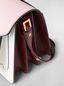Marni TRUNK bag in pink, white and burgundy saffiano calfskin  Woman - 5