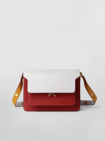 Marni TRUNK bag in three-colored calfskin Woman f