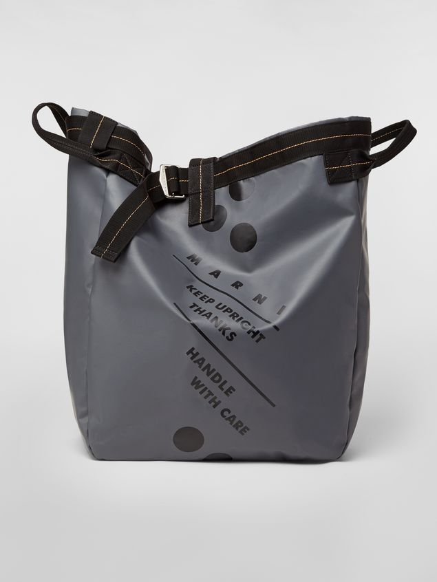 Marni Satchel bag in coated PVC gray Man - 1