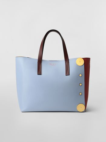 Marni PUNCH bag in lilac, orange and brown leather  Woman