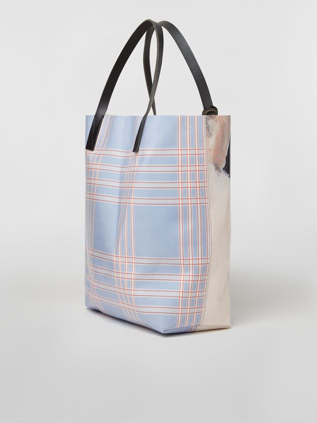 Marni Shopping bag in coated PVC print by artist Betsy Podlach Man