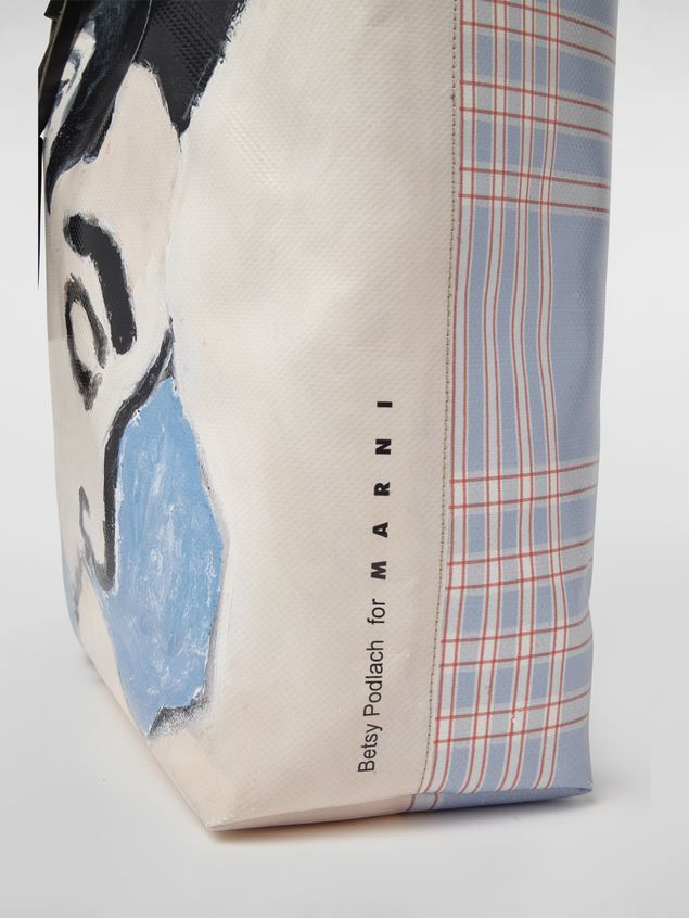 Marni Shopping bag in coated PVC print by artist Betsy Podlach Man - 5