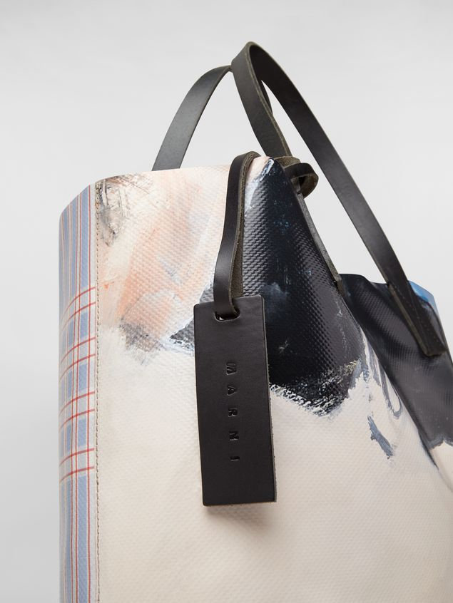 Marni Shopping bag in coated PVC print by artist Betsy Podlach Man - 4