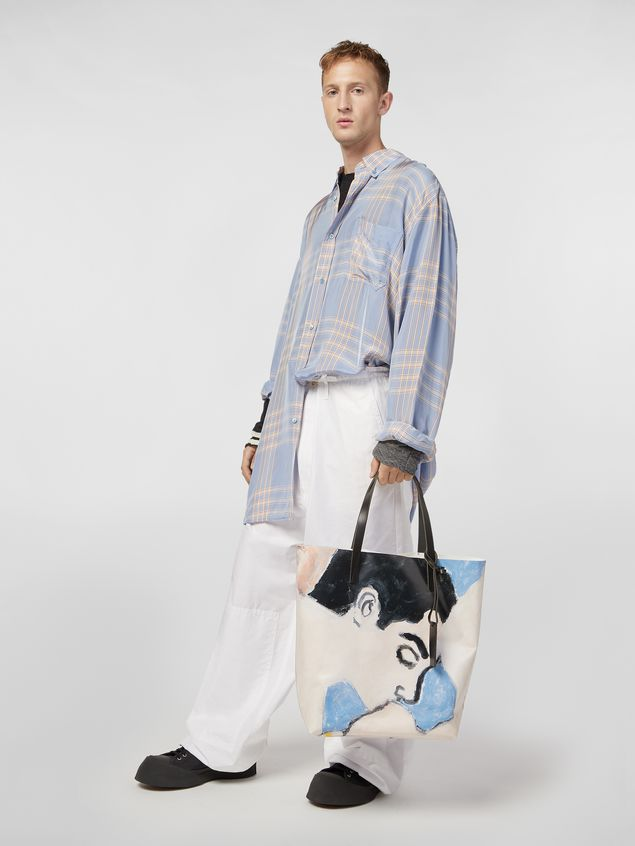 Marni Shopping bag in coated PVC print by artist Betsy Podlach Man - 2