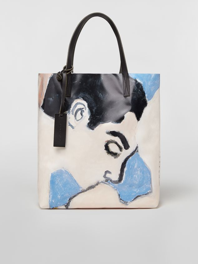 Marni Shopping bag in coated PVC print by artist Betsy Podlach Man - 1