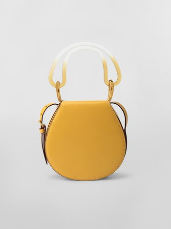 Marni SADDLE bag in yellow leather  Woman