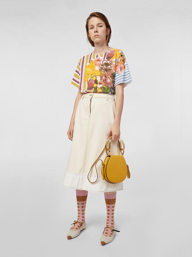 Marni SADDLE bag in yellow leather  Woman - 2