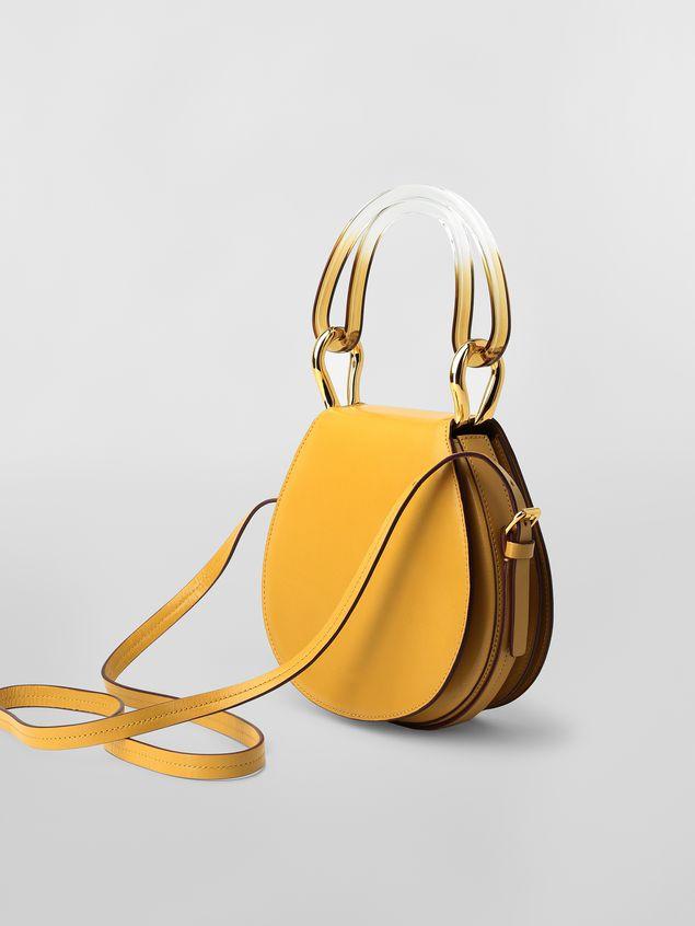 Marni SADDLE bag in yellow leather  Woman - 3