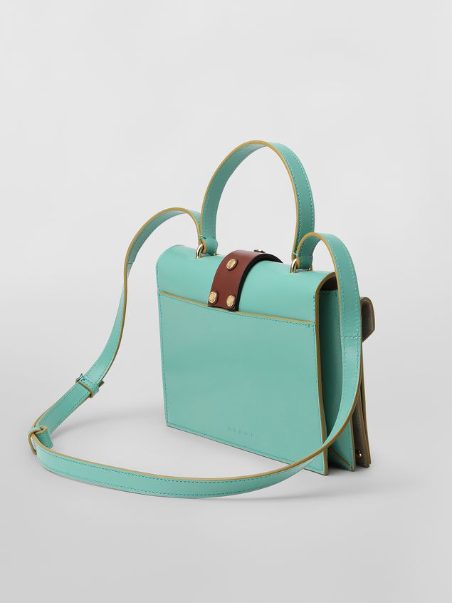 Marni PUNCH bag in green and brown leather  Woman