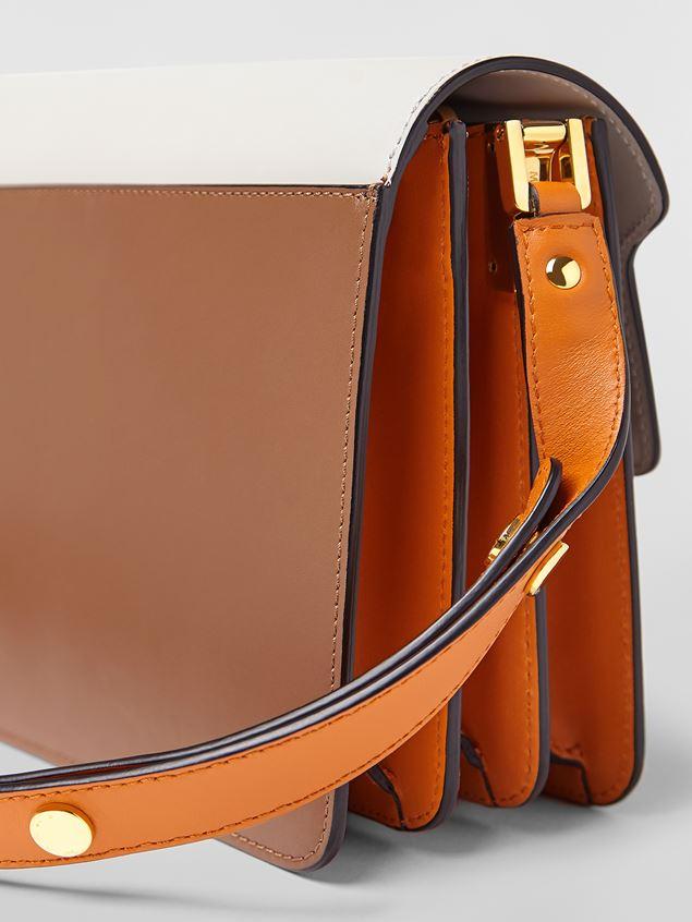 Marni TRUNK bag in calfskin grey brown and orange Woman - 4