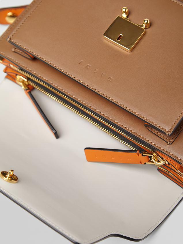 Marni TRUNK bag in calfskin grey brown and orange Woman - 2