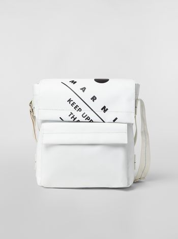 Marni Shoulder bag in coated PVC white Man