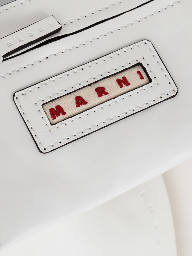 Marni PANNIER bag in white leather with gold-tone handle Woman - 4