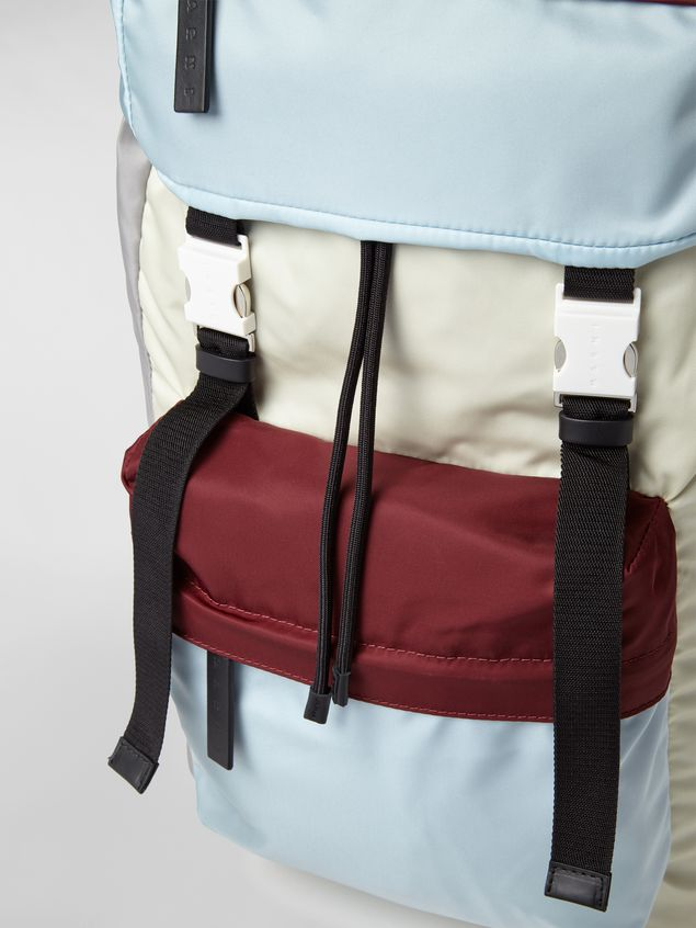 Marni Backpack in nylon burgundy yellow gray and pale blue Man - 2