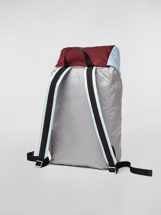 Marni Backpack in nylon burgundy yellow gray and pale blue Man - 3