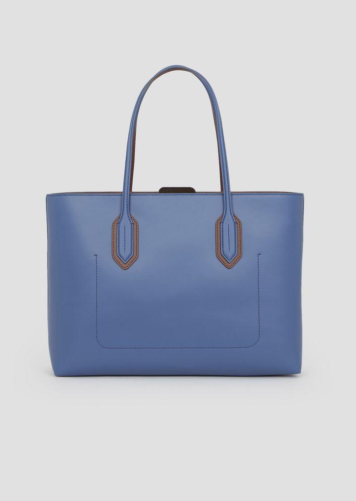 de87dd4edb20 ... Tote bag with metal logo detail. EMPORIO ARMANI