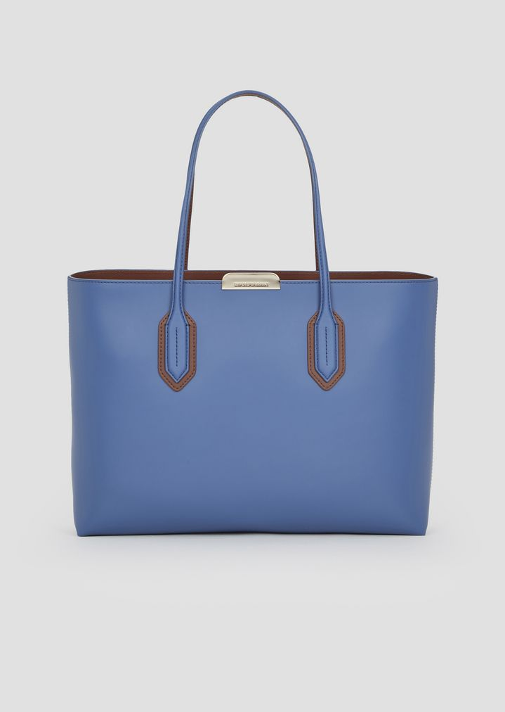 e5fe4b021 Tote bag with metal logo detail | Woman | Emporio Armani