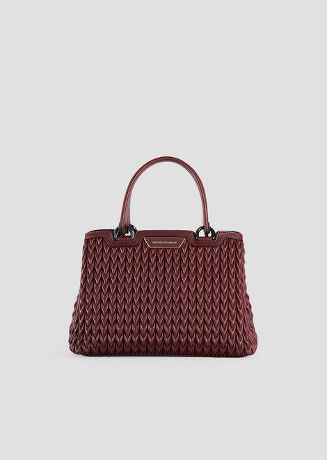 Shopping bag in econappa trapuntata con motivo goccia