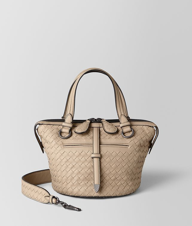 BOTTEGA VENETA SMALL TAMBURA BAG IN INTRECCIATO NAPPA Top Handle Bag Woman fp