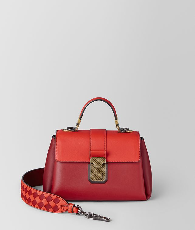 BOTTEGA VENETA MINI PIAZZA BAG IN MULTICOLOR NAPPA Top Handle Bag [*** pickupInStoreShipping_info ***] fp