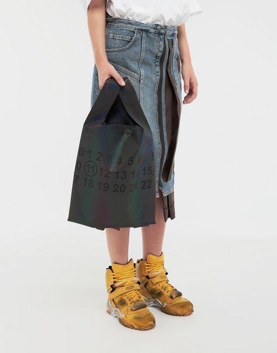 MAISON MARGIELA Reflective leather shopper Tote [*** pickupInStoreShipping_info ***] b