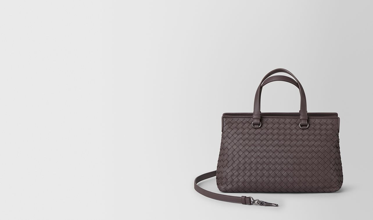 small top-handle bag in intrecciato nappa  landing