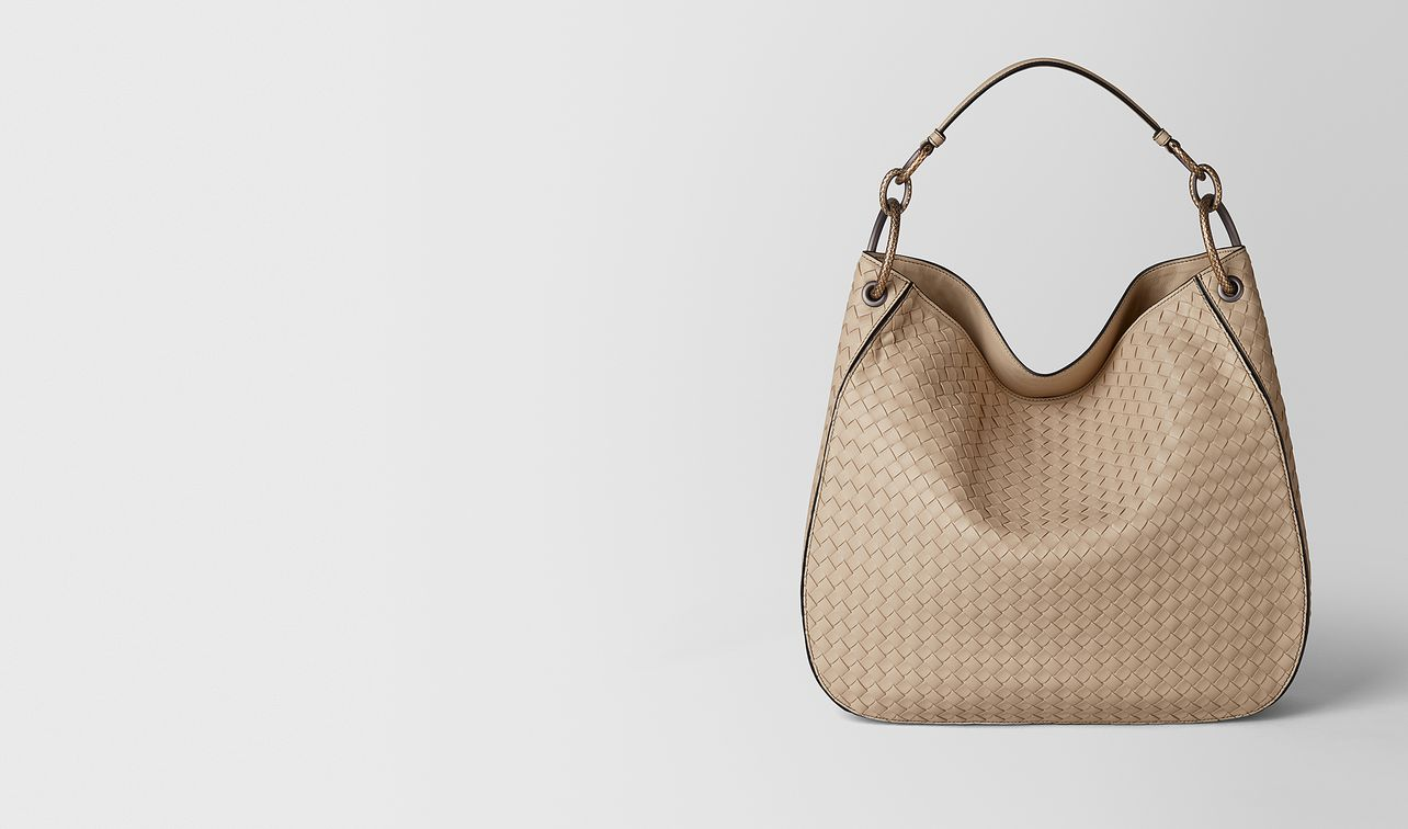 medium loop bag in intrecciato nappa  landing