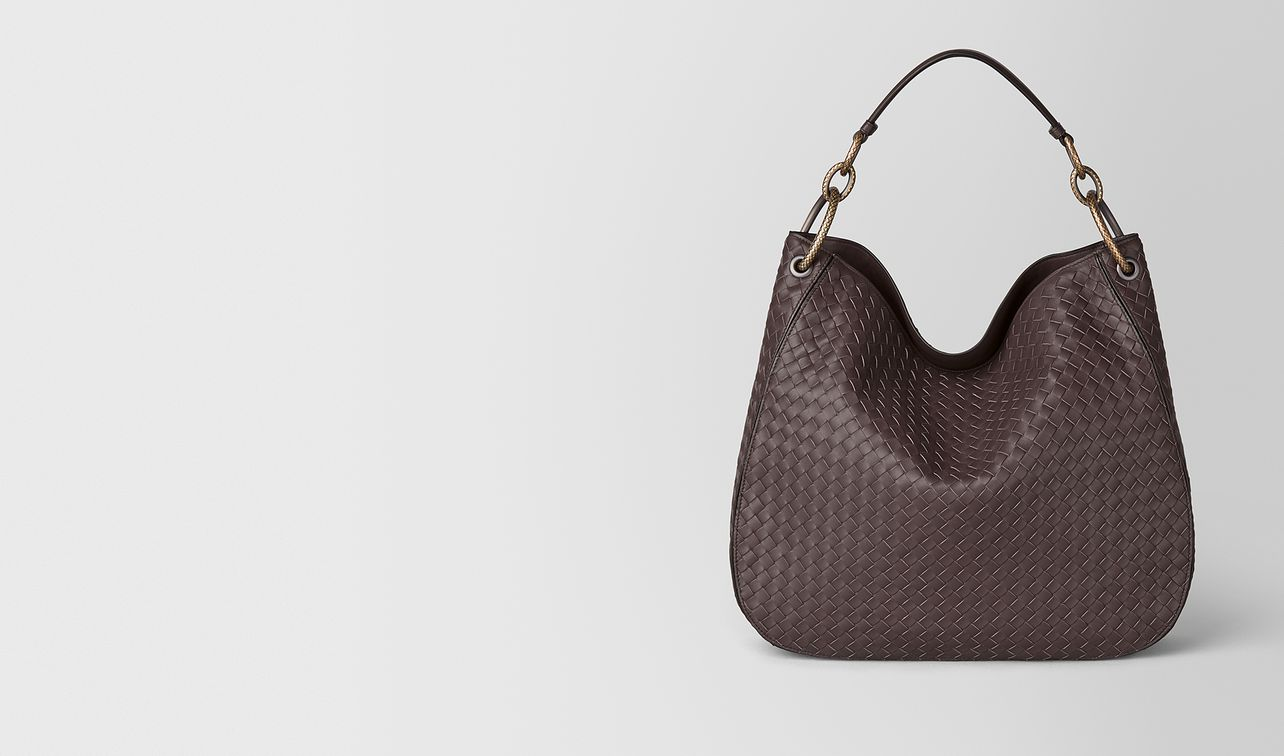 borsa loop media in intrecciato nappa  landing