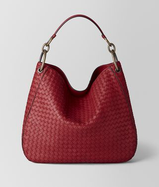 MEDIUM LOOP BAG IN INTRECCIATO NAPPA
