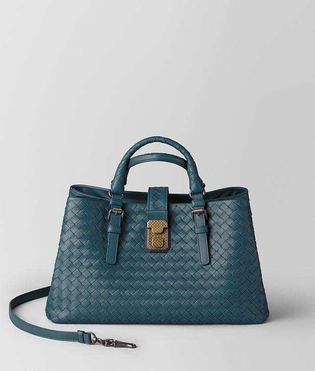 BOTTEGA VENETA SMALL ROMA BAG IN INTRECCIATO CALF Top Handle Bag [*** pickupInStoreShipping_info ***] fp