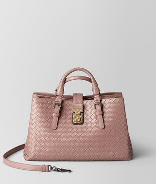 DECO ROSE INTRECCIATO CALF SMALL ROMA BAG