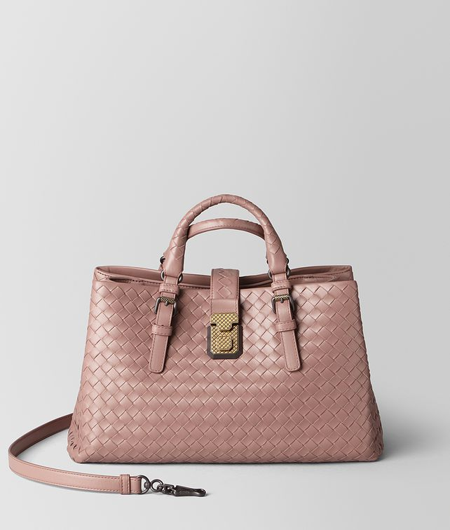 BOTTEGA VENETA SMALL ROMA BAG IN INTRECCIATO CALF   Top Handle Bag [*** pickupInStoreShipping_info ***] fp