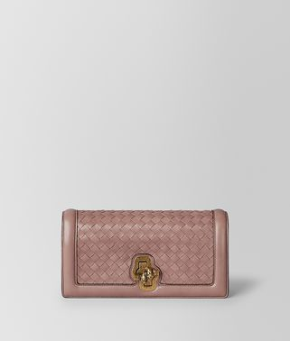 DECO ROSE NERO INTRECCIATO NAPPA TOP KNOT CLUTCH