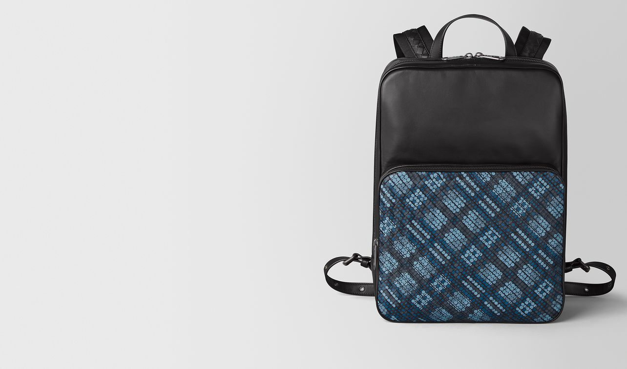 medium double brick backpack in tartan dots  landing